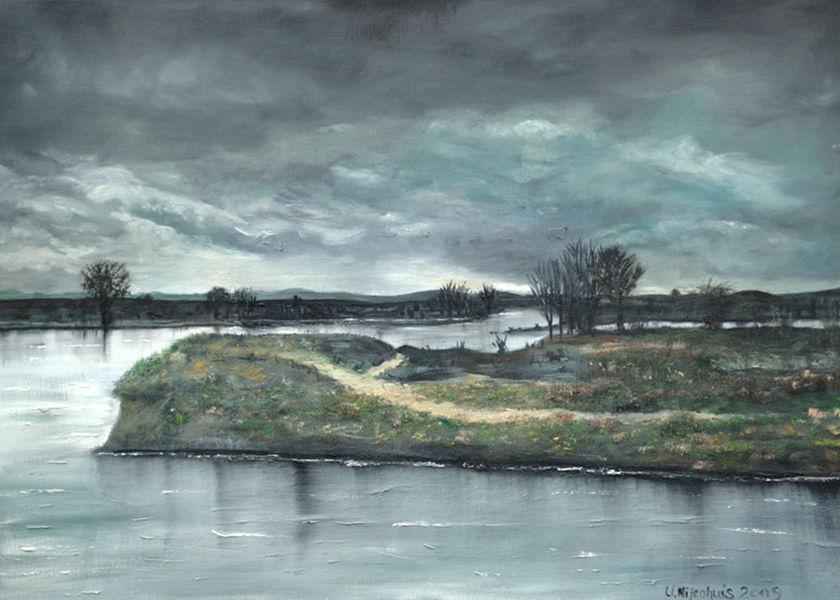Flusslandschaft, Gemälde